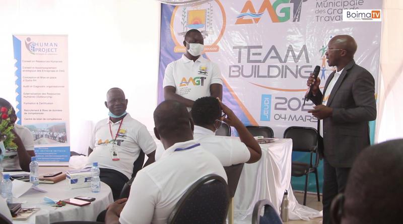 L' Agence Minicipale des Grands Travaux (AMGT) a initié un team  building animé par  human project  Cabinet Conseils en Ressources Humaines. Externalisation , Formation , Recrutement , Audit ,Diagnostic Organisationnel et Outils RH