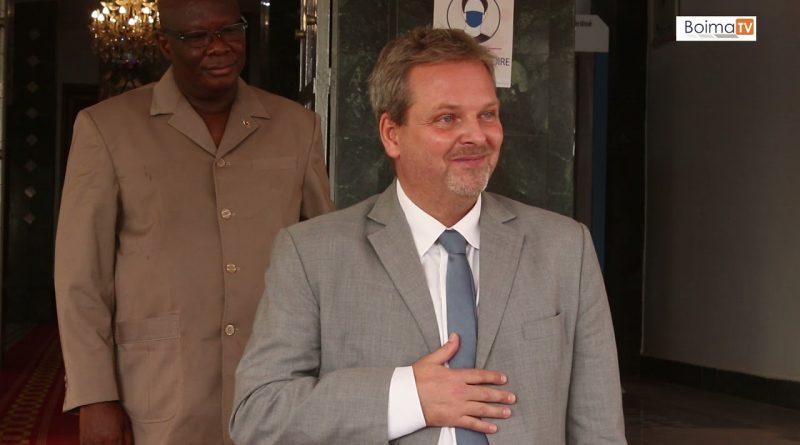 SEM Christophe Joseph Marie DABIRÉ a reçu en audience cet après midi du Jeudi 6 mai 2021 son excellence Steen Sonne Andersen ,  ambassadeur du Royaume du DANEMARK au BURKINA FASO