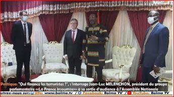 Jean-Luc Mélenchon à l'Assemblée Nationale du Burkina Faso.