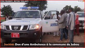Don d'une ambulance à la population de Sabou
