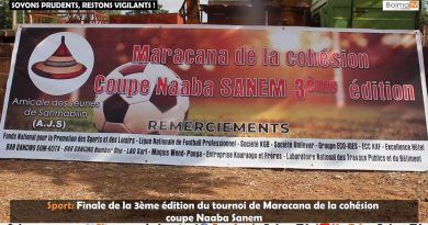 [REPORTAGE] SPORT: FINALE DE LA 3EME EDITION DU TOURNOI DE MARACANA DE LA COHESION COUPE NAABA SANEM
